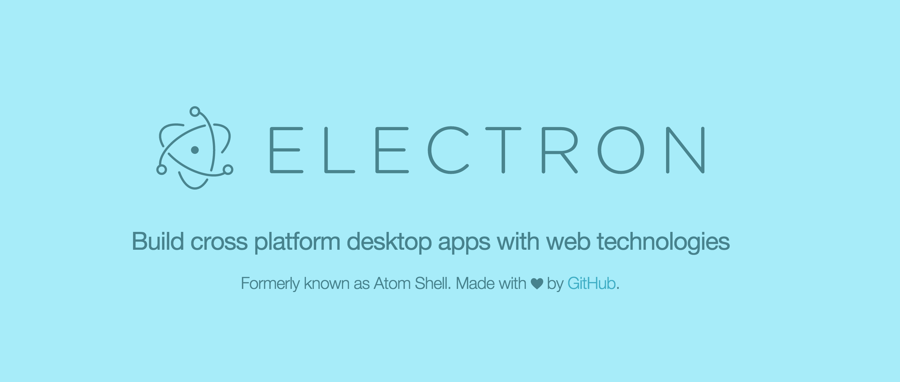 Build cross platform desktop apps with web technologies