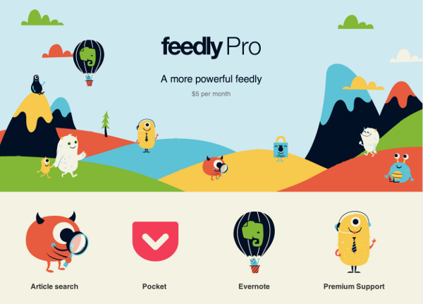 Feedly Pro je k dispozícii a Feedbin je open-source
