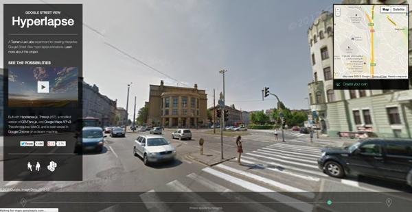 Hyperlapse – perfektná ukážka použitia API Google Street View