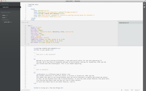 Editor Brackets je už aj pre linux