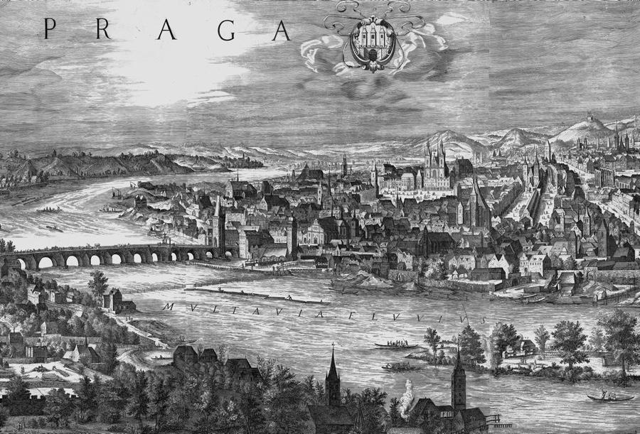 Vltava a Staré Město v roku 1606